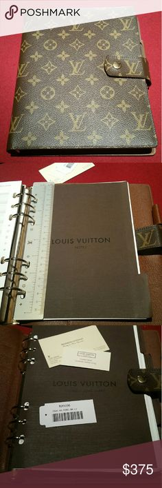 39fd51bcd026 Louis Vuitton GM Agenda Authentic Louis Vuitton agenda. Cowhide leather.  Included  Travel section