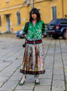 Pin for Later: Ciao, Bella! Die besten Street Style Looks aus Mailand Street Style Milan Fashion Week Februar 2016 Margaret Zhan in Gucci