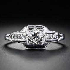 .45 Carat Art Deco Diamond Engagement Ring