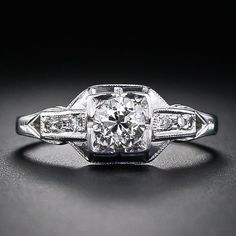 .45 Carat Art Deco Diamond Engagement Ring  £1700