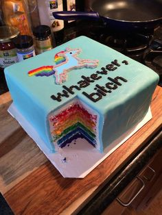Funny pictures about Sassy Unicorn Flavored Cake. Oh, and cool pics about Sassy Unicorn Flavored Cake. Also, Sassy Unicorn Flavored Cake photos. Cupcakes, Cupcake Cakes, Funny Cake, Funny Birthday Cakes, Happy Birthday, Cake Birthday, Gateaux Cake, Let Them Eat Cake, Amazing Cakes