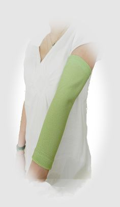#1 custom PICC LINE COVERS at off-the-shelf prices. Shown in 'Celedon' full arm sleeve by PICC Cover Fashions tm. 80+ styles.