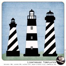 Free printable lighthouse patterns google search for 3d paper lighthouse template