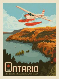 Anderson Design Group – World Travel – Canada by Air Image Clipart, Art Clipart, Art Deco Posters, Poster Prints, Posters Canada, Voyage Canada, National Park Posters, Travel Illustration, Vintage Travel Posters
