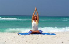 The sand, the sea and a morning yoga session is the best way to start the day in Punta Cana.