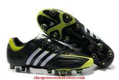 top fashion 9bcf2 d2d93 Adidas adipure 11Pro TRX FG Black White Slime Cheap Soccer Cleats Nike  Football, Football Boots