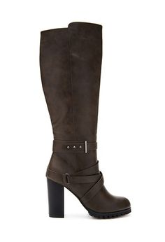 Faux Leather Knee-High Boots | Forever 21 - 2000057404