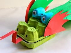 Egg Carton Dragon | Trash To Treasure | Crafts For Kids