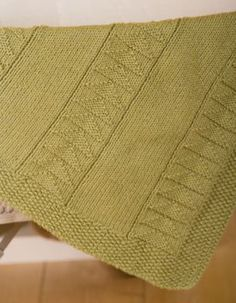 Flying Geese Crib Blanket - Knitting Patterns by Jennifer Chase-Rappaport