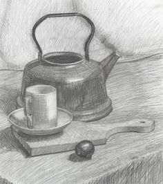 "Pencil drawings by Alexander Babel - painter, sculptor, ""watchmaker"" and simply artist Sou Still Life Sketch, Still Life Art, Pencil Drawings Of Flowers, Cool Drawings, Drawing Lessons, Art Lessons, Academic Drawing, Observational Drawing, Object Drawing"