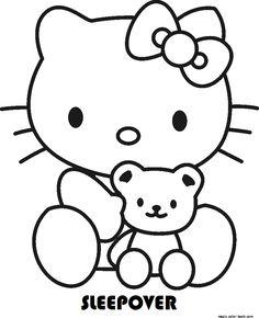 Mewarnai Gambar Hello Kitty Terbaru Gambar Mewarnai Kartun Hello