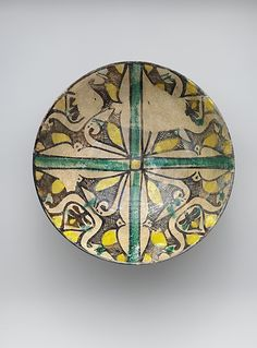 Buff Ware Bowl with Geometric Patterns, 9th century, Iran