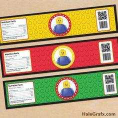 Kit de Lego para Imprimir Gratis. | Ideas y material gratis para fiestas y celebraciones Oh My Fiesta!