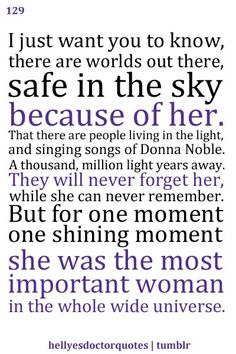 Donna Noble. The 2nd best companion ever.