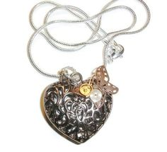 Steampunk My Heart Flies Necklace. Starting at $20