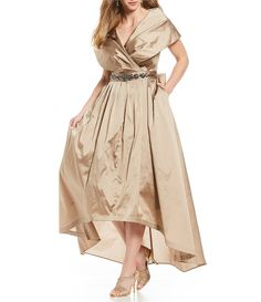 Shop for Adrianna Papell Plus Portrait-Collar Taffeta Hi-Low Gown at Dillards.com. Visit Dillards.com to find clothing, accessories, shoes, cosmetics & more. The Style of Your Life.