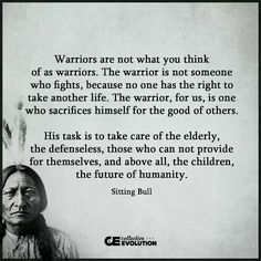 The wisdom of Sitting Bull..