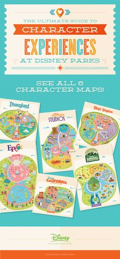 Use these handy maps to help guide you on where some of your favorite Characters are located in the Disney Parks. Discover the lands they're waiting in and quickly navigate to them.