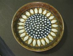Rorstrand, Sweden Mid Century 'Sunflower' Bowl by Sylvia Leuchovius