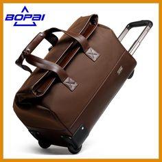 d82a721aeeb8 2017 Women Rolling Luggage Men Travel Bags Waterproof Trolley Bags Weekend Duffle  Bag Women Travel Bags