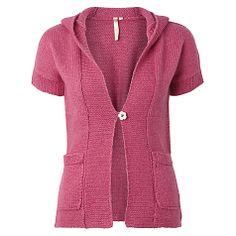 Buy White Stuff Dogwalker Cardigan, Rhubarb Pink Online at johnlewis.com