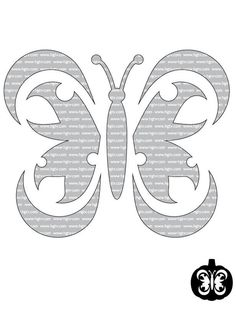 butterfly pumpkin carving template
