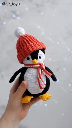 "Amigurumi Crochet PATTERN ""The little penguin Lo lo"", Crochet amigurumi penguin toy pattern PDF, Animal handmade toy pattern, DIY Christmas Crochet Patterns, Crochet Animal Patterns, Holiday Crochet, Crochet Doll Pattern, Stuffed Animal Patterns, Crochet Dolls, Crochet Penguin, Crochet Animal Amigurumi, Crochet Animals"