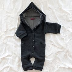 Hooded one piece, cute for a baby during winter. (too cute!)