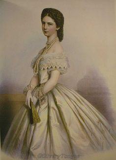 1867 Sisi wearing white.