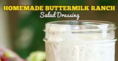 With just a few staple ingredients and a handful of the perfect herbs, you can have the best Buttermilk Ranch Salad Dressing you have ever eaten. It is perfect on salads and an excellent marinade for pork chops too!  This is a simple recipe that your whole family is going to love!