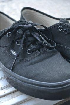 Vans Black Bone Authentic On Feet