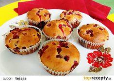 Rybízové muffiny s jogurtem recept - TopRecepty.cz Breakfast Recipes, Dessert Recipes, Desserts, Cheesecake Pops, Yummy Mummy, Love Food, Keto Recipes, Food Porn, Food And Drink