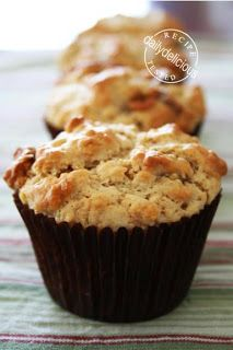 dailydelicious: SNICKERS AND PEANUT-BUTTER MUFFINS