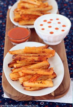Baked Buffalo French Fries