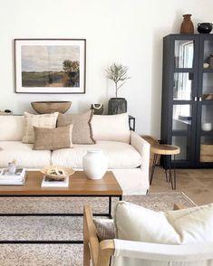 Simple Living Room, Home Living Room, Living Room Designs, Living Room Decor, Kitchen Living, Small Living, Modern Living, Living Room Inspiration, Home Decor Inspiration