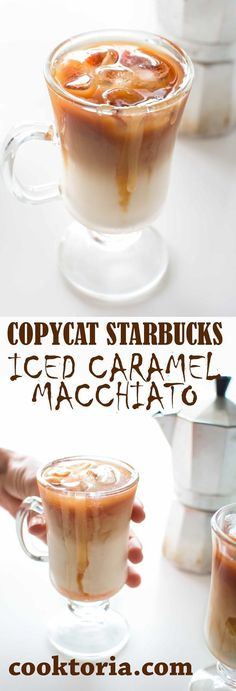 Prepare the loved-by-everyone Starbucks Iced Caramel Macchiato at home! I'll share the tips and the secrets on how to make this delicious treat. ❤️ COOKTORIA.COM