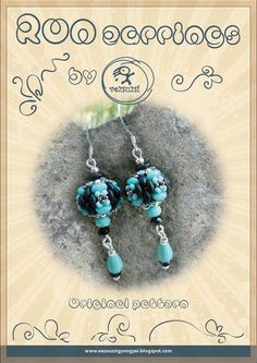 Ron earrings...PDF instruction for personal use only