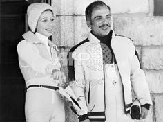 King Hussein I and Queen Alia on holiday in St. Moritz, Switzerland