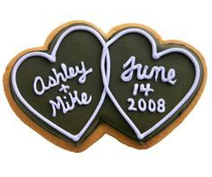 double hearts cookie - Google Search