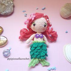 Ravelry: Little Mermaid Amigurumi pattern by Maira Tessino Little Mermaid Crochet, Crochet Disney, Ariel The Little Mermaid, Diy Crochet, Learn To Crochet, Crochet Ideas, Knitted Dolls, Crochet Dolls, Crochet Designs