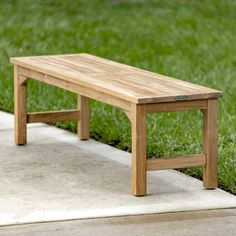 The Backless Teak Bench is made of Certified plantation grown Teak Wood. All our teak benches come with a Lifetime Warranty. Patio Dining, Outdoor Dining, Dining Bench, Outdoor Decor, Bench Stool, Chair, Teak Garden Furniture, Patio Furniture Sets, Furniture Design