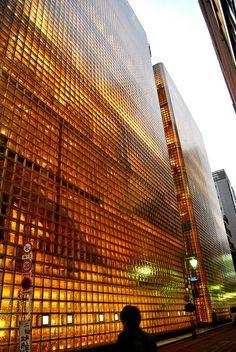 Maison Hermès | Renzo Piano  Glass brick.  Ginza, Tokyo