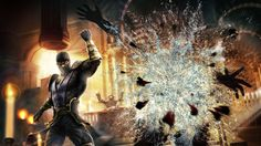 Download Mortal Kombat Fighter Fist Magic Stairs Explosion Wallpaper Wallpaper