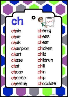 Phonics Reading, Teaching Phonics, Kindergarten Reading, Teaching Reading, Measurement Kindergarten, Phonics Chart, Phonics Blends, Phonics Worksheets, English Phonics