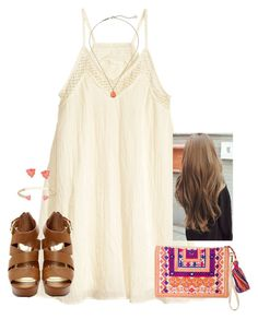 """Sometimes memories steak out of my eyes and roll down my cheeks."" by kaley-ii ❤ liked on Polyvore featuring H&M and Kendra Scott"