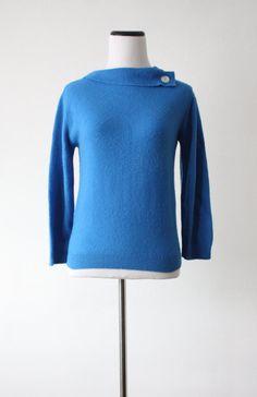 vintage cobalt blue sweater