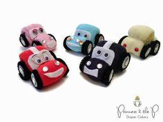 EL ORIGINAL auto toalla pastel de pañales por PrincessAndThePbaby