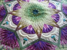 Beautiful quilt and quilting by Margaret Gunn.