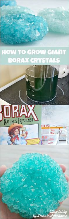 How to grow giant borax crystals! Great for home decor, craft projects or science projects for kids!