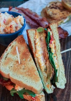 Fried Green Tomato BLT with Pimento Cheese sandwich recipe is 3 Southern favorites in 1.